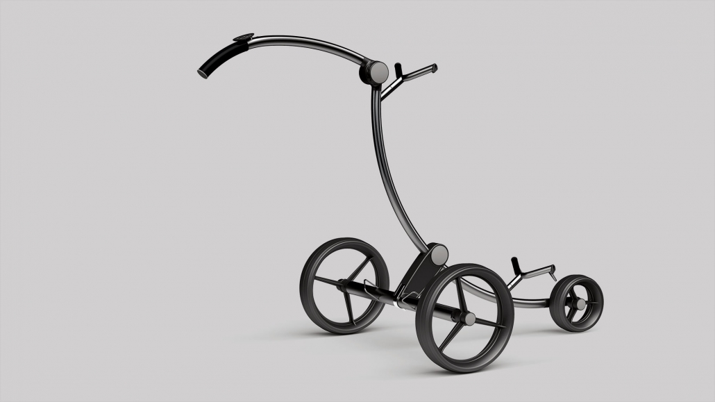 titan golf caddy golfquant silber